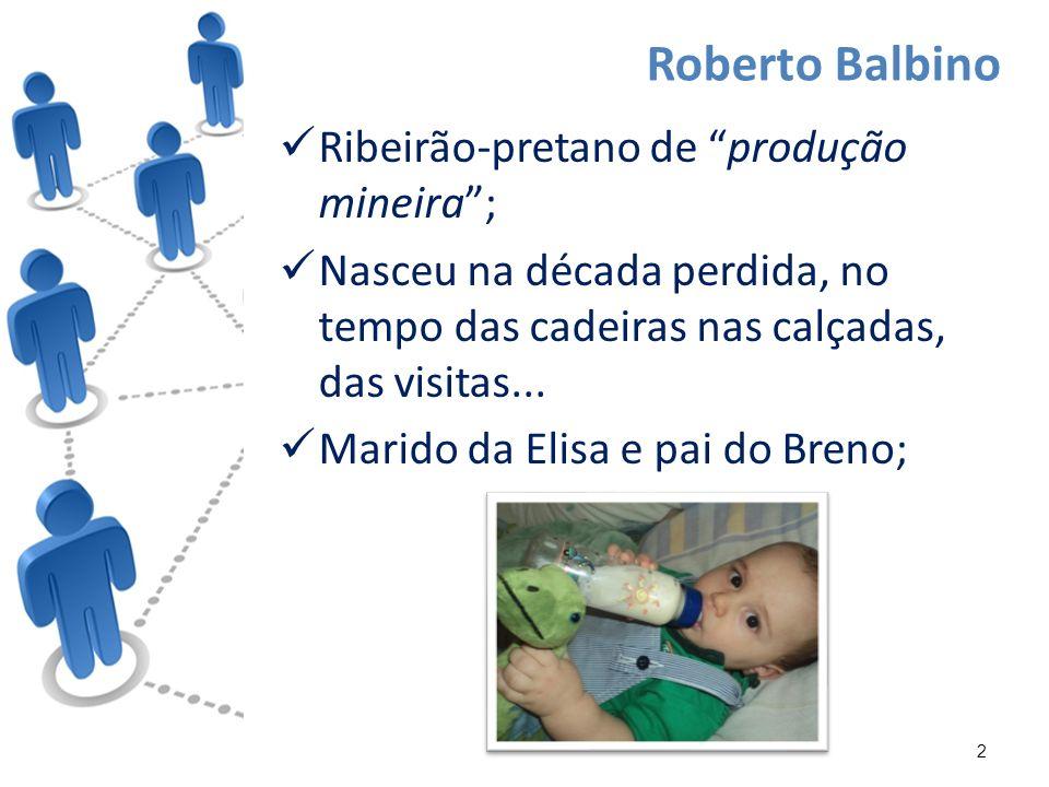 Ribeirão-pretano de produção mineira; Nasceu na década perdida, no tempo das cadeiras nas calçadas, das visitas...