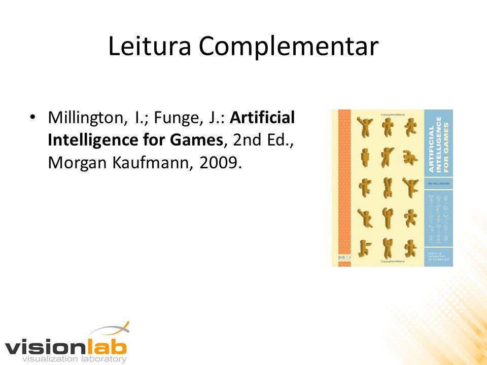 Leitura Complementar Millington, I.; Funge, J.: Artificial Intelligence for Games, 2nd Ed., Morgan Kaufmann, 2009.