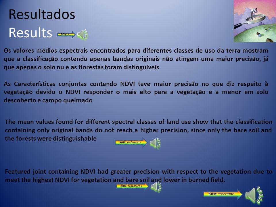 Calibração Atmosférica Correção Radiométrica Registro da imagem Definição das Classes Temáticas Classificação ISODATA e BAYESIANO Materiais e métodos