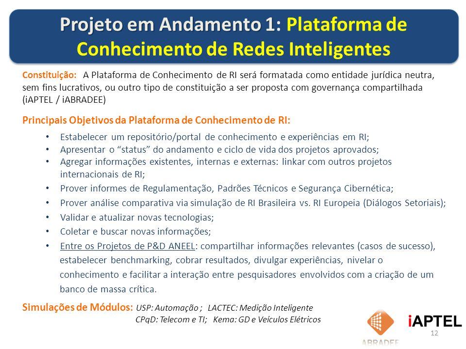 12 Constituição: A Plataforma de Conhecimento de RI será formatada como entidade jurídica neutra, sem fins lucrativos, ou outro tipo de constituição a