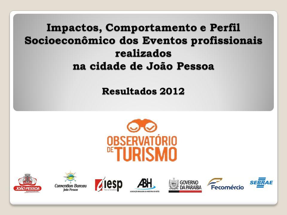 Impactos, Comportamento e Perfil Socioeconômico dos Eventos profissionais realizados na cidade de João Pessoa Resultados 2012