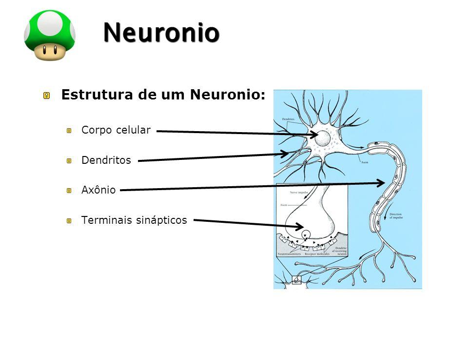LOGO Neuronio Estrutura de um Neuronio: Corpo celular Dendritos Axônio Terminais sinápticos