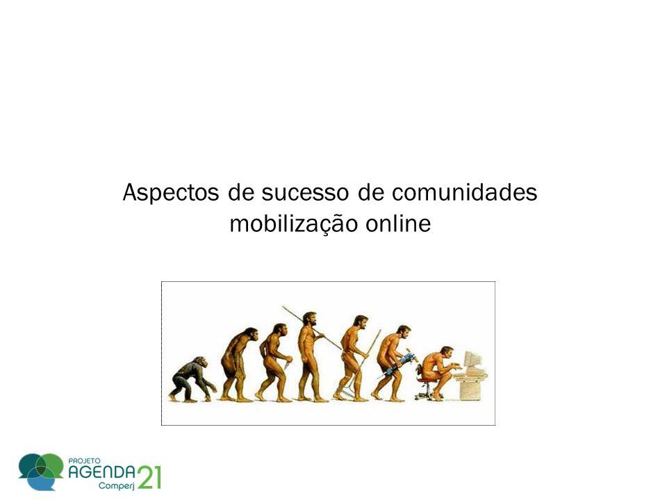 Aspectos de sucesso de comunidades mobilização online