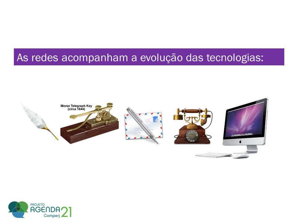 As redes acompanham a evolução das tecnologias: