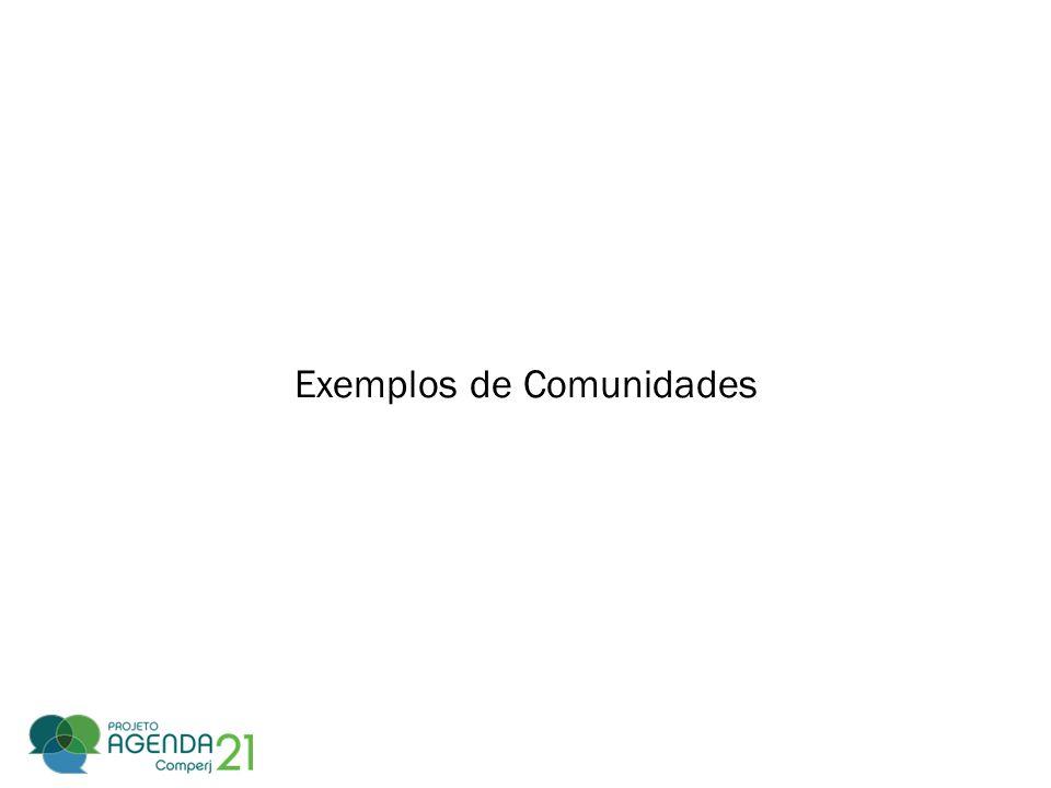 Exemplos de Comunidades
