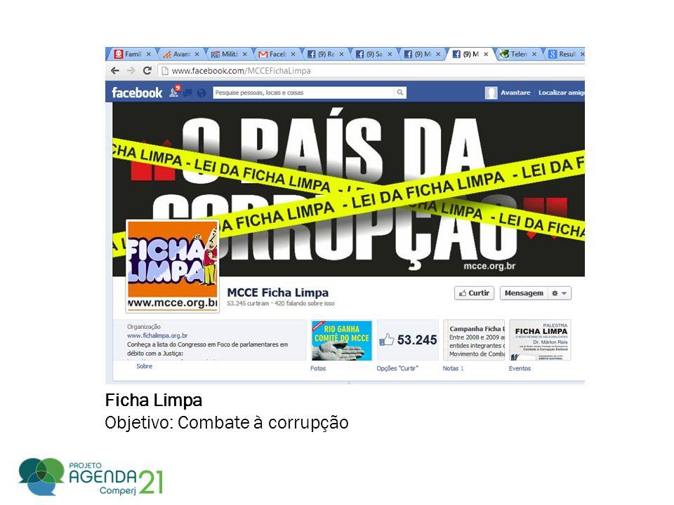Ficha Limpa Objetivo: Combate à corrupção