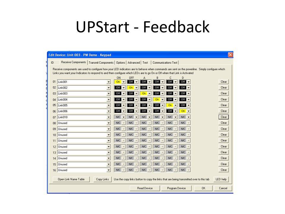 UPStart - Feedback