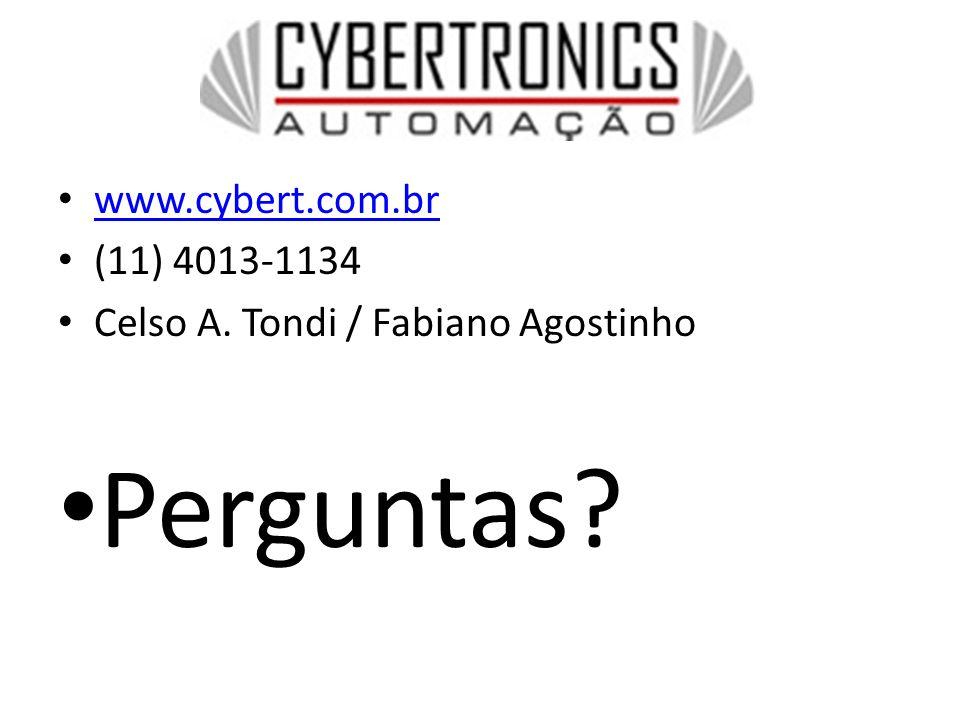 www.cybert.com.br (11) 4013-1134 Celso A. Tondi / Fabiano Agostinho Perguntas?