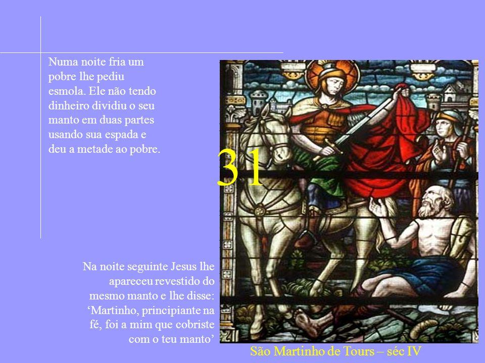 ASSOCIAÇÃO QUERIDOS FILHOS AMAR É... 100 SANTOS EM 2000 ANOS DE CRISTIANISMO 4ª SÉRIE – 31 a 40