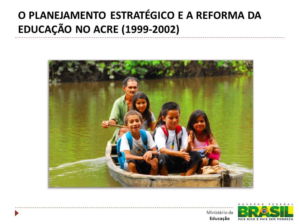 SITUAÇÃO EM JANEIRO DE 1999 Professores com 3 a 4 meses de salários atrasados; Escolas sem as condições mínimas para começar o ano letivo; Desempenho no Sistema de Avaliação da Educação Básica do MEC entre os piores do Brasil, equiparado apenas com Maranhão e Alagoas.