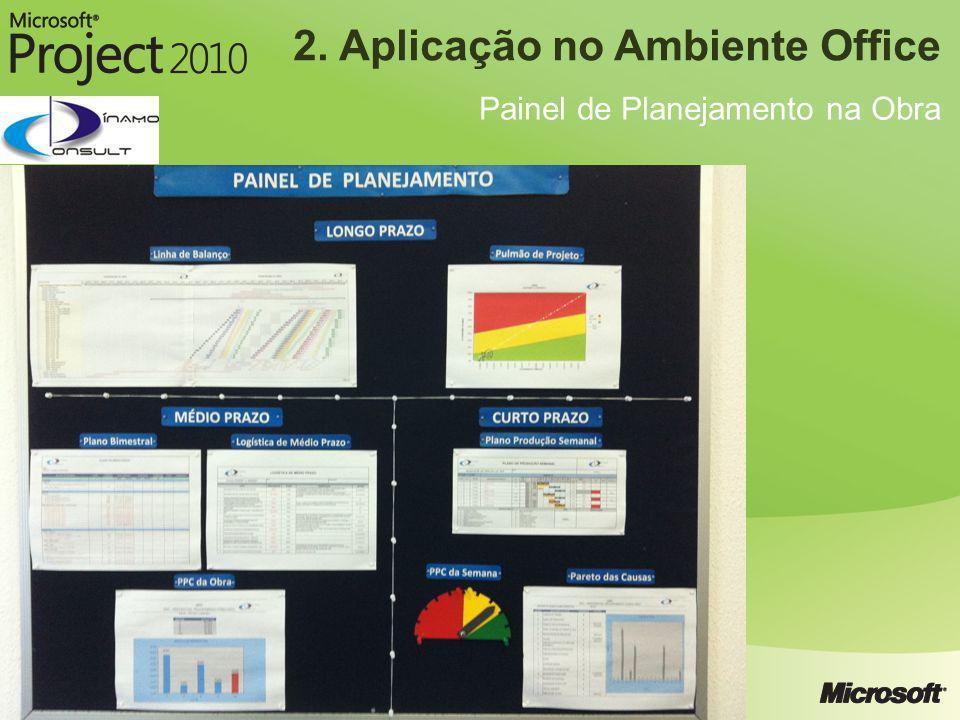 2. Aplicação no Ambiente Office Painel de Planejamento na Obra