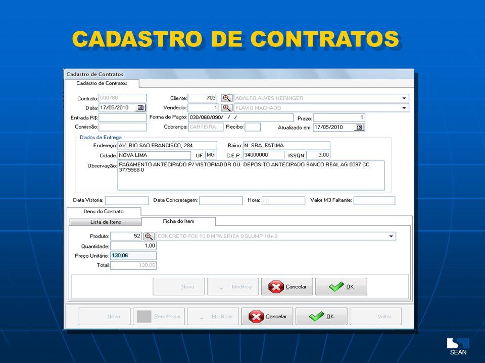CADASTRO DE CONTRATOS SEAN