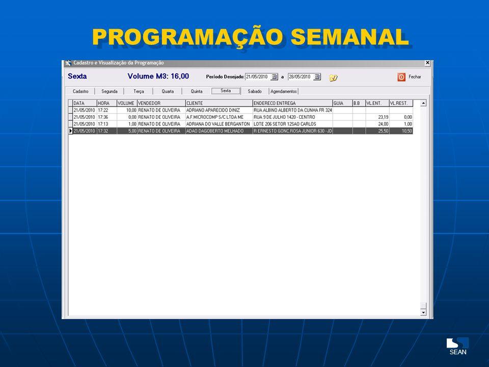 PROGRAMAÇÃO SEMANAL SEAN