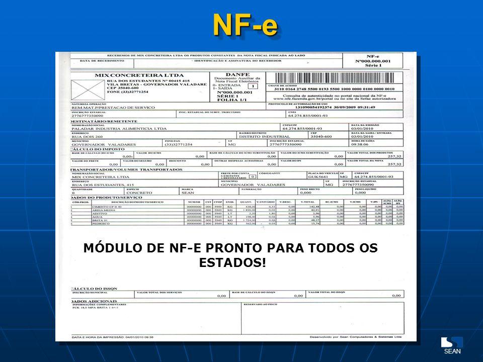 NF-eNF-e MÓDULO DE NF-E PRONTO PARA TODOS OS ESTADOS!