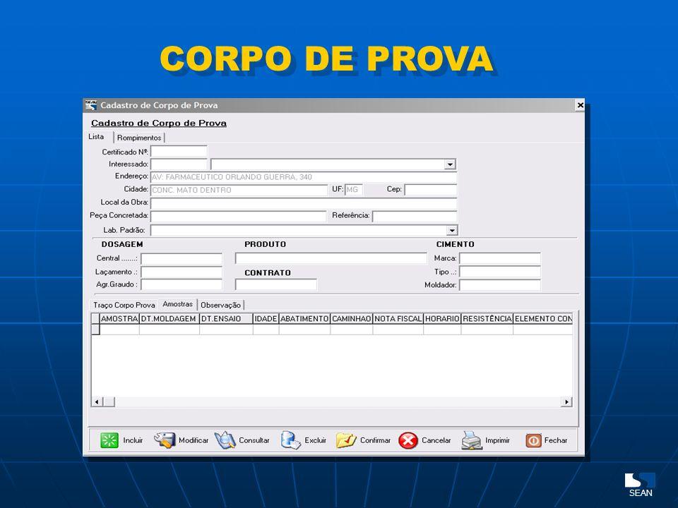 CORPO DE PROVA SEAN