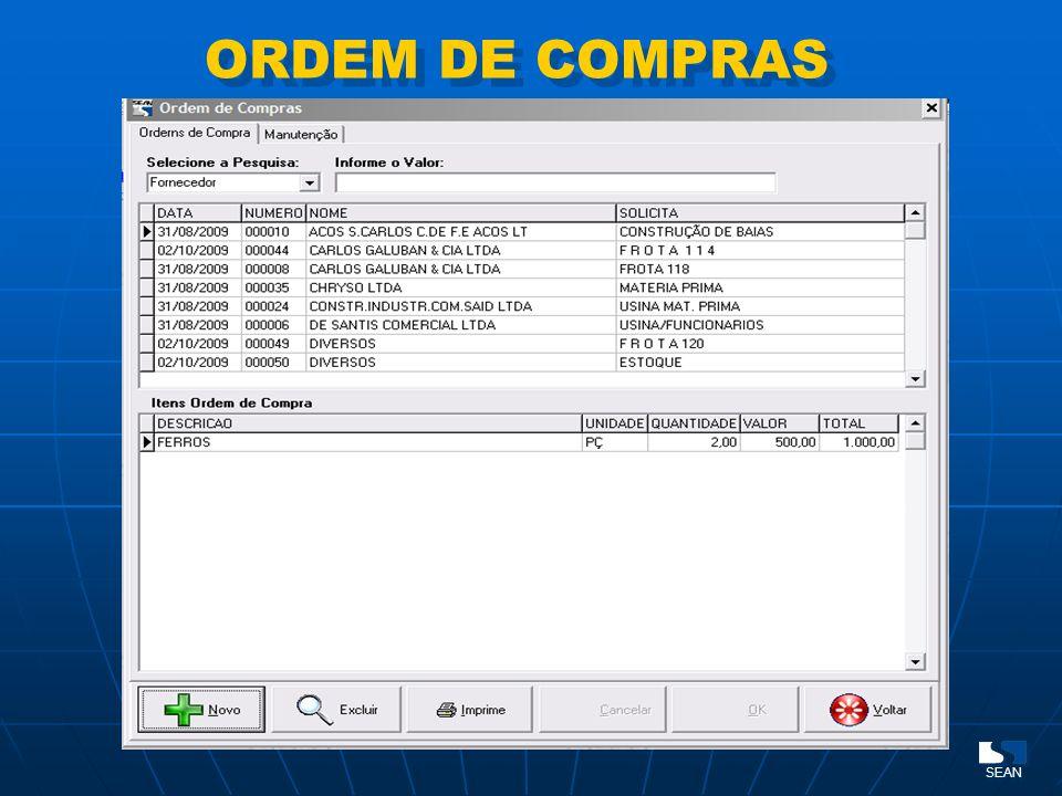 ORDEM DE COMPRAS SEAN