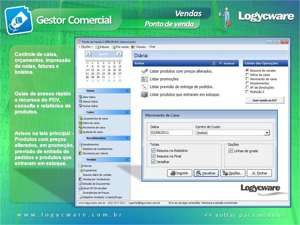 Formulário de pré- venda simplificado, para agilizar e direcionar o vendedor para os itens relevantes.
