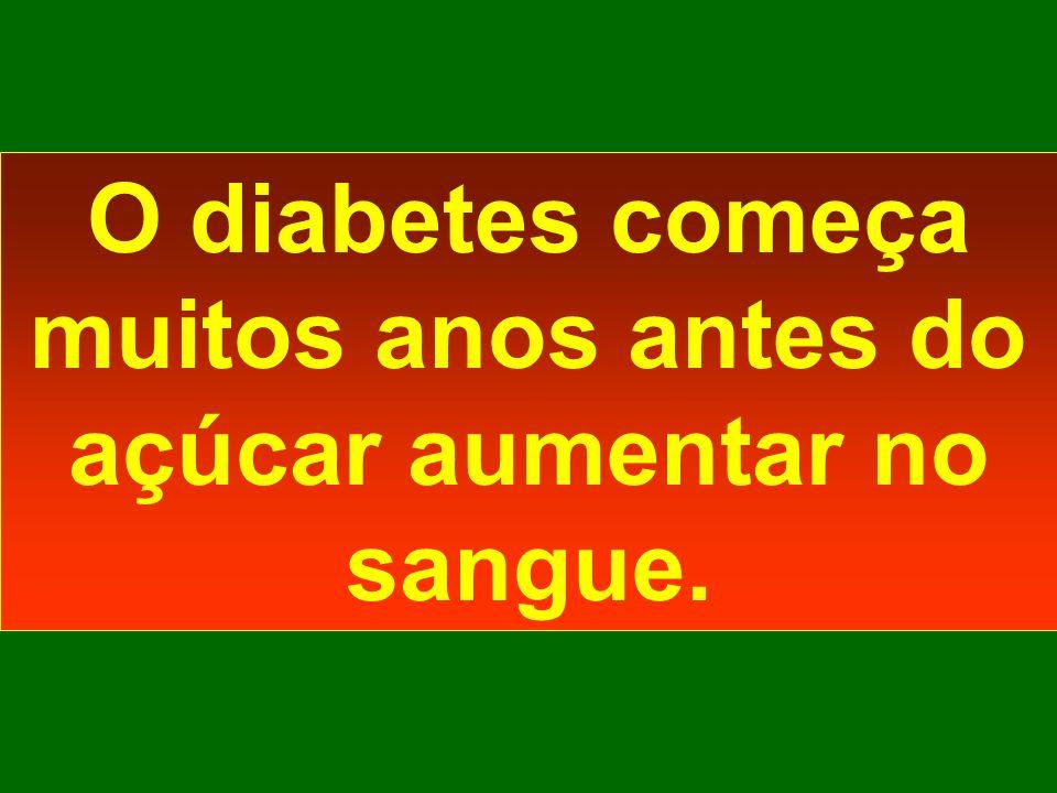O diabetes começa muitos anos antes do açúcar aumentar no sangue.