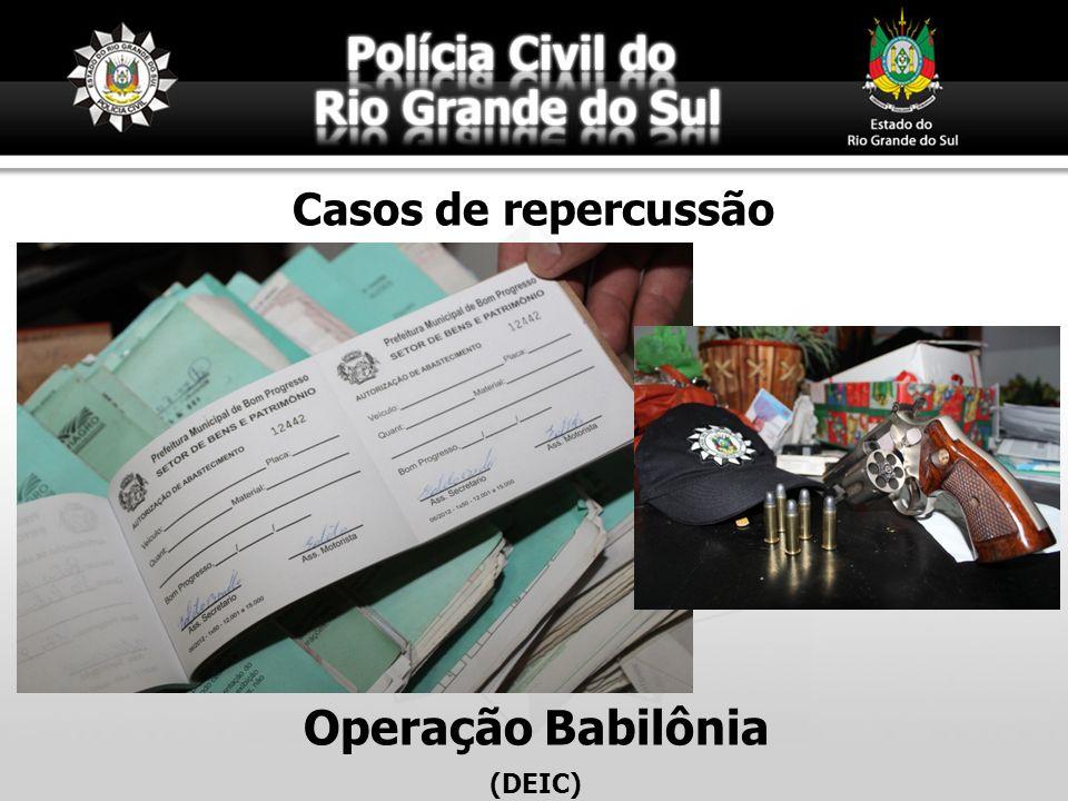 Operação Babilônia (DEIC) Casos de repercussão
