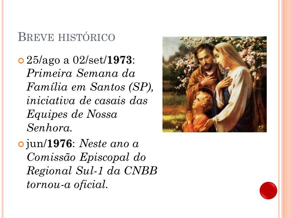H ORA DA F AMÍLIA Breve histórico e material 2010
