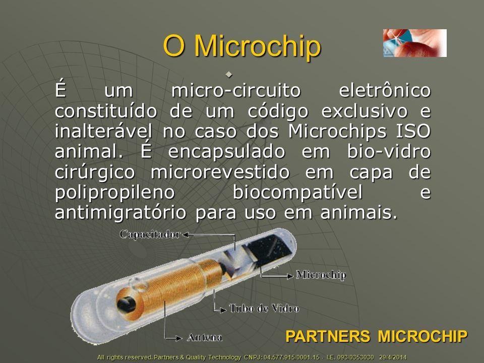 O Microchip O microchip não possui bateria, permanecendo inativo.