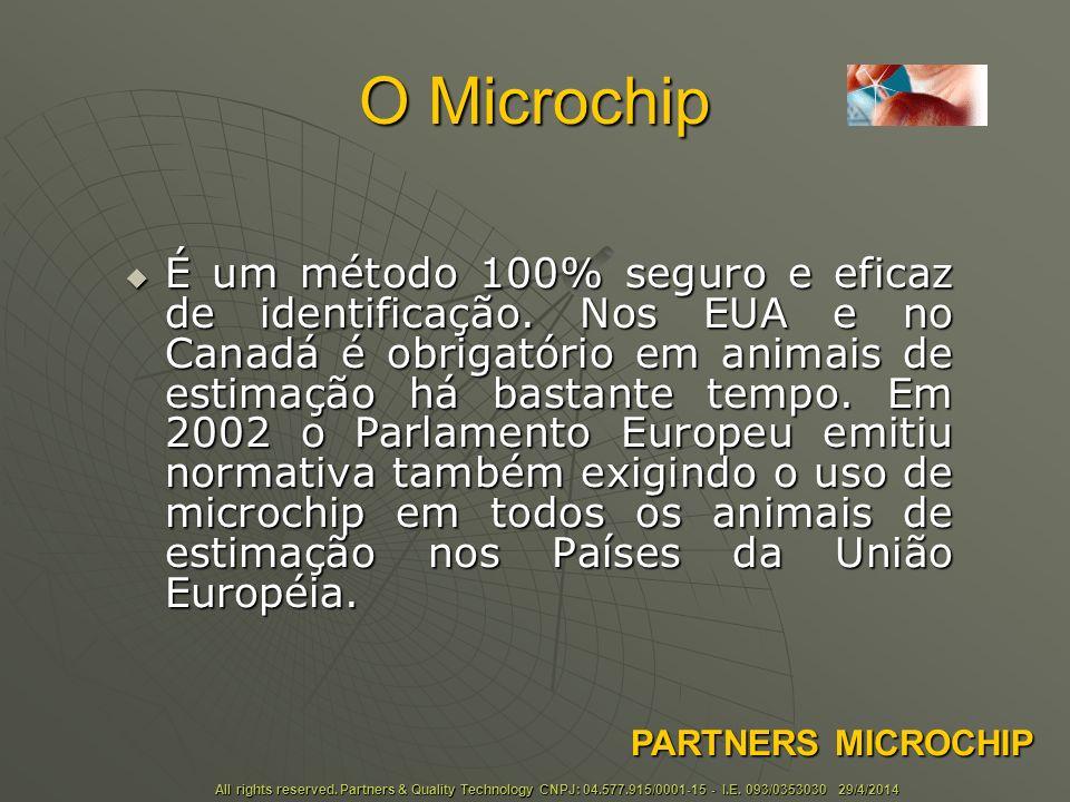 Tamanhos e Formatos Basicamente existem 4 tipos de microchip para uso animal: O Ruminal, o Umbilical, o Brinco e o Injetável.