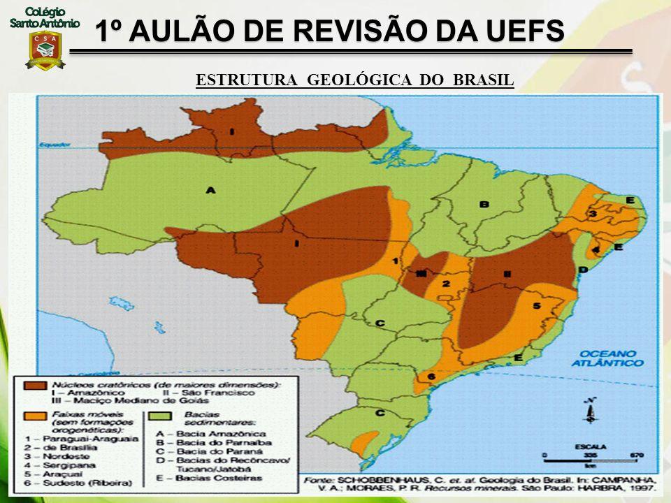 1º AULÃO DE REVISÃO DA UEFS ESTRUTURA GEOLÓGICA DO BRASIL