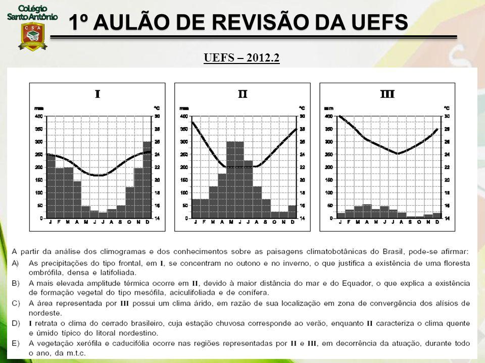 1º AULÃO DE REVISÃO DA UEFS UEFS – 2012.2