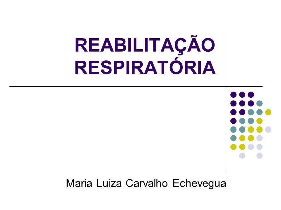 REABILITAÇÃO RESPIRATÓRIA Maria Luiza Carvalho Echevegua
