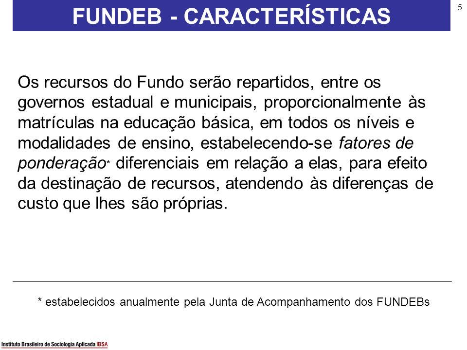 5 Os recursos do Fundo serão repartidos, entre os governos estadual e municipais, proporcionalmente às matrículas na educação básica, em todos os níve
