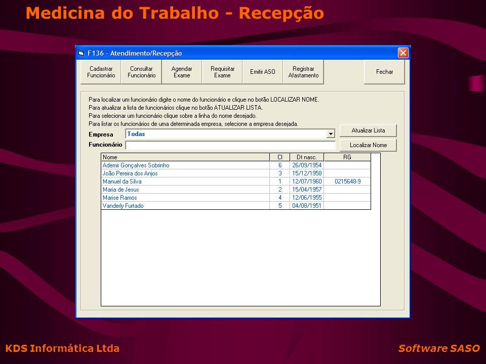 KDS Informática Ltda Software SASO Final da Apresentação Obrigado pela atenção