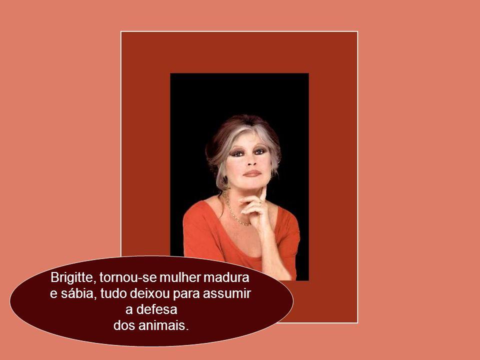 Agora, é o repouso da guerreira.. Septuagenária, Brigitte Bardot não tem mais o que provar. Ela continua dirigindo sua Fundação em favor da proteção d