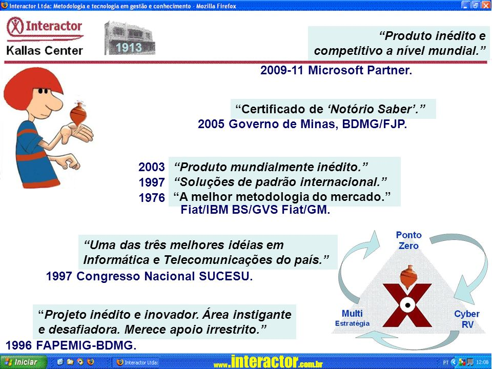 www.interactor.com.br 1913 Projeto inédito e inovador.