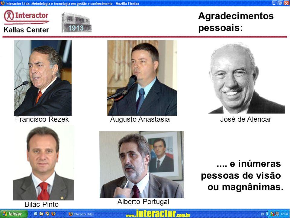 www.interactor.com.br 1913 Agradecimentos pessoais:....