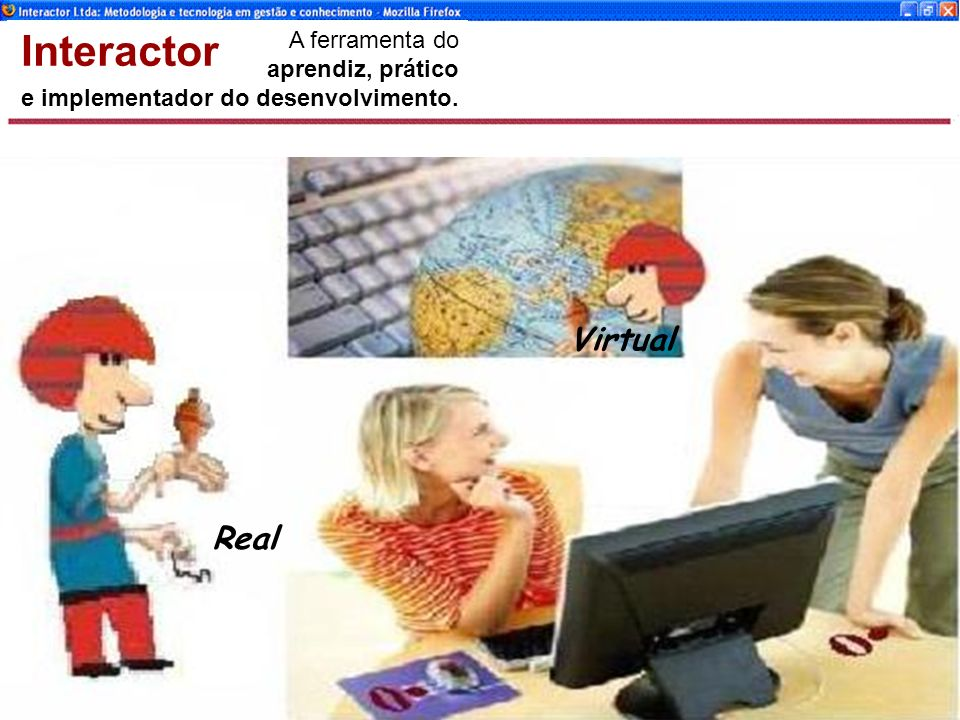 www.interactor.com.br 1913 Real Virtual A ferramenta do aprendiz, prático e implementador do desenvolvimento.