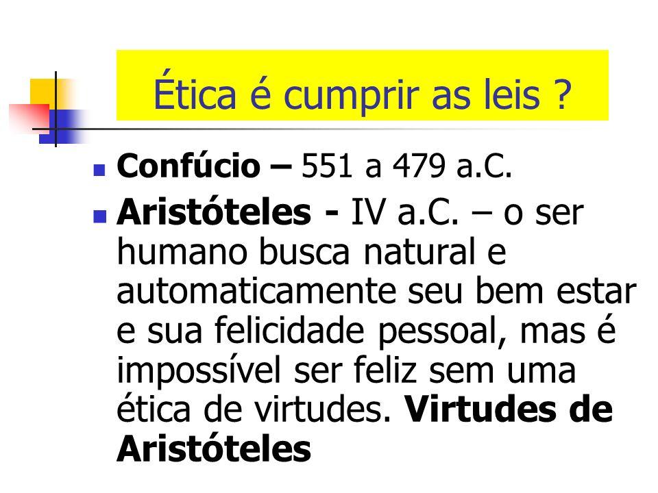 O que significa ser moral? Ética (Etos - grego): costumes Moral (Mos ou moris – latim): costumes Ética: diz respeito a nossa conduta pública e profiss