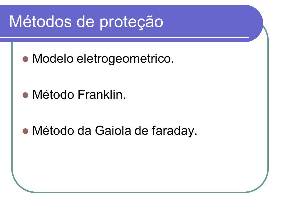 Métodos de proteção Modelo eletrogeometrico. Método Franklin. Método da Gaiola de faraday.