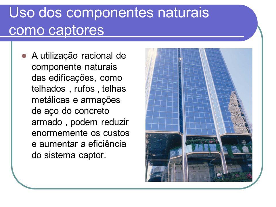 Uso dos componentes naturais como captores A utilização racional de componente naturais das edificações, como telhados, rufos, telhas metálicas e arma