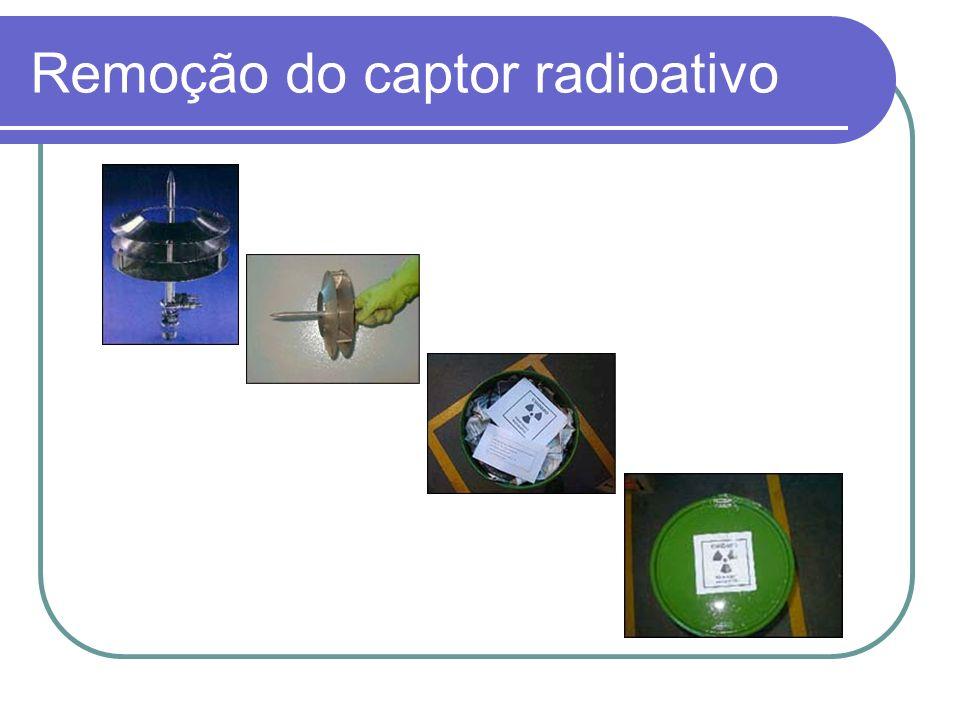 Remoção do captor radioativo