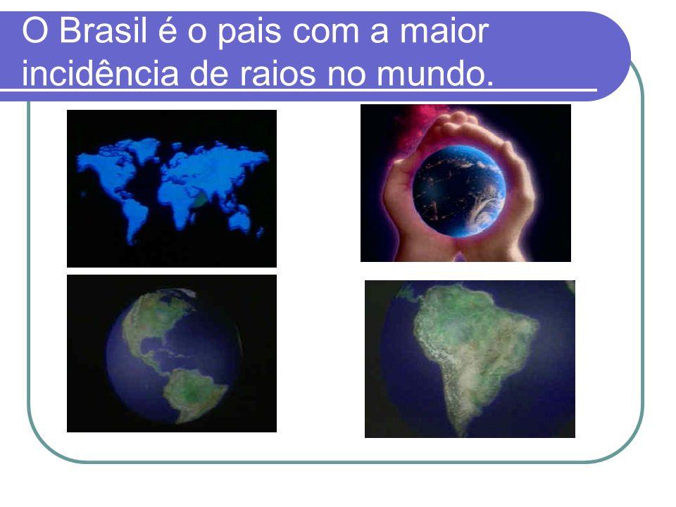 O Brasil é o pais com a maior incidência de raios no mundo.