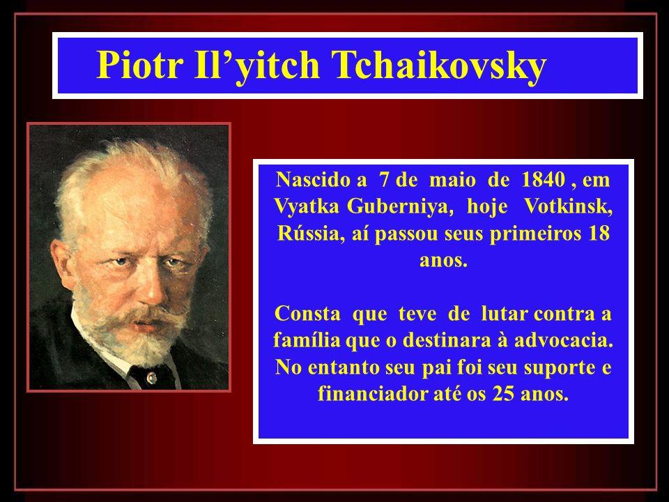 Nascido a 7 de maio de 1840, em Vyatka Guberniya, hoje Votkinsk, Rússia, aí passou seus primeiros 18 anos.