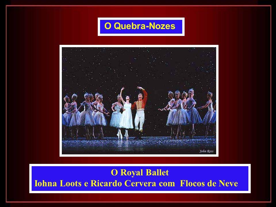 O Royal Ballet Iohna Loots e Ricardo Cervera com Flocos de Neve O Quebra-Nozes