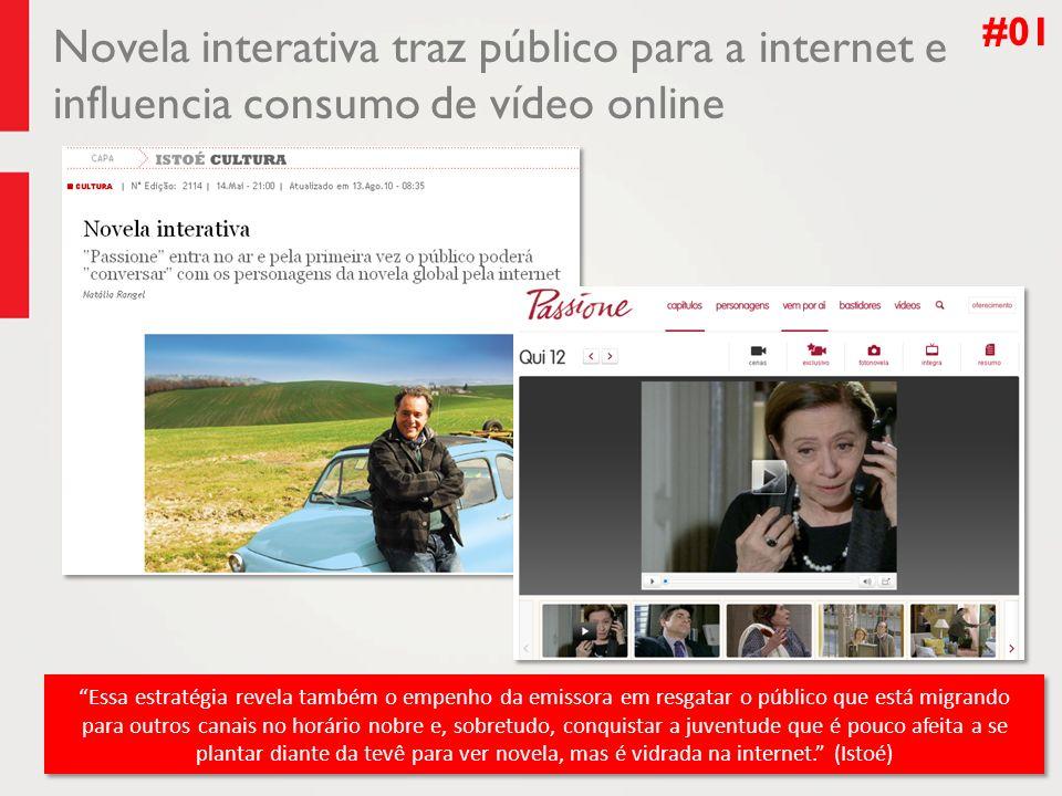 Novela interativa traz público para a internet e influencia consumo de vídeo online #01 Essa estratégia revela também o empenho da emissora em resgata