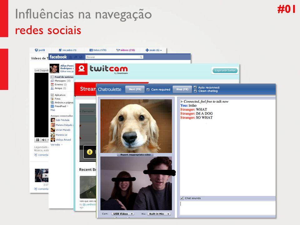 Influências na navegação redes sociais #01