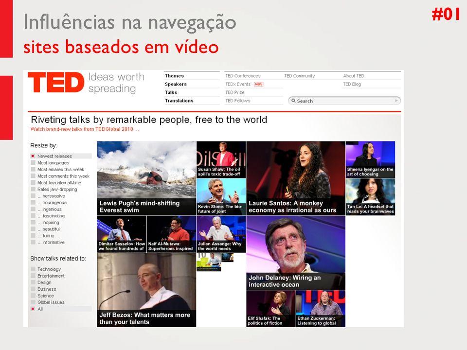 Influências na navegação sites baseados em vídeo #01
