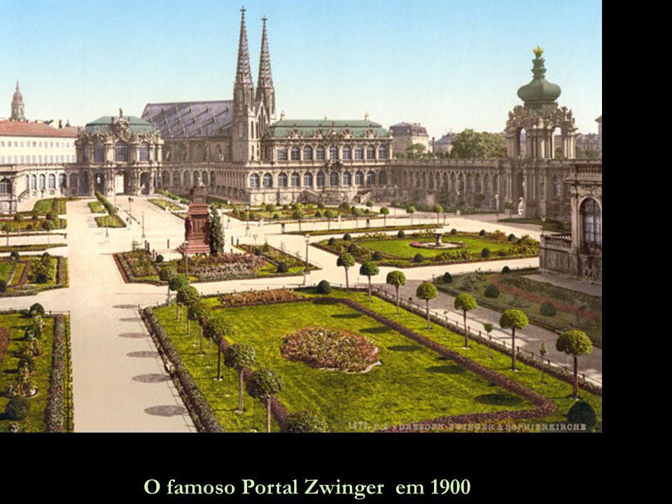 Esta é Dresden sem a Frauenkirche, apenas sua silhueta é mostrada, na exata posição em ela ficava.