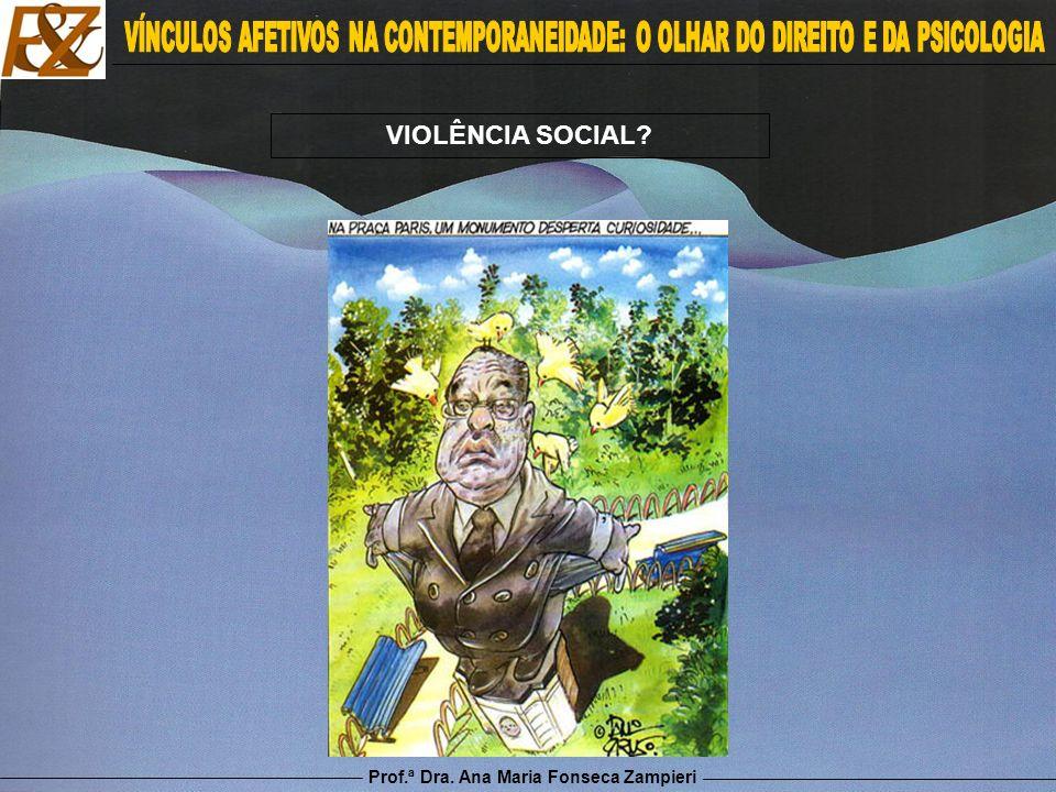 Prof.ª Dra. Ana Maria Fonseca Zampieri VIOLÊNCIA SOCIAL?