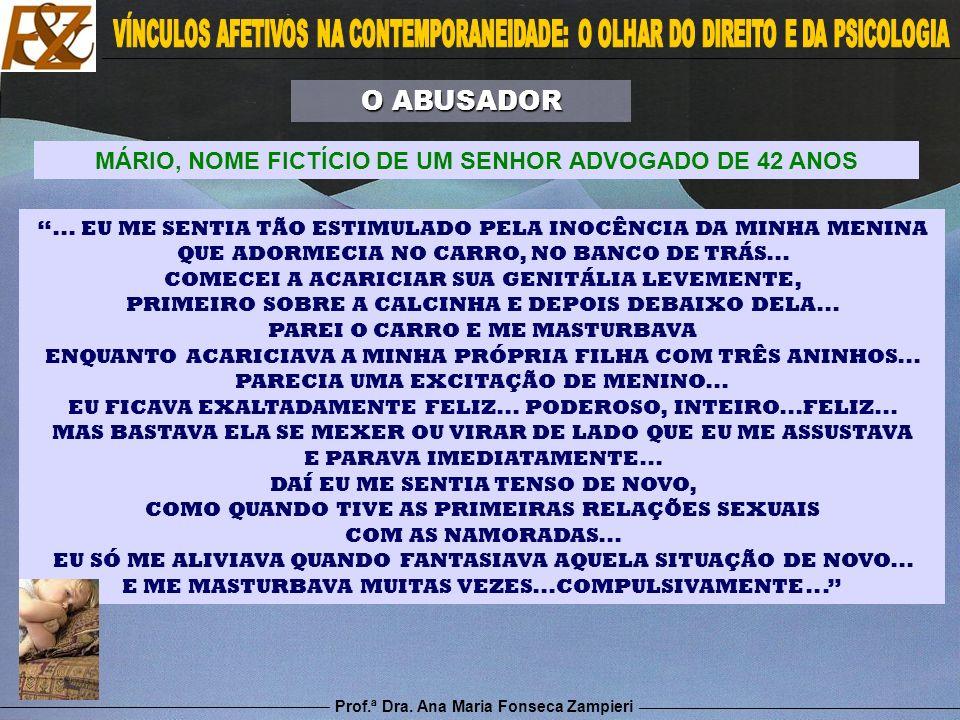 Prof.ª Dra. Ana Maria Fonseca Zampieri... EU ME SENTIA TÃO ESTIMULADO PELA INOCÊNCIA DA MINHA MENINA QUE ADORMECIA NO CARRO, NO BANCO DE TRÁS... COMEC