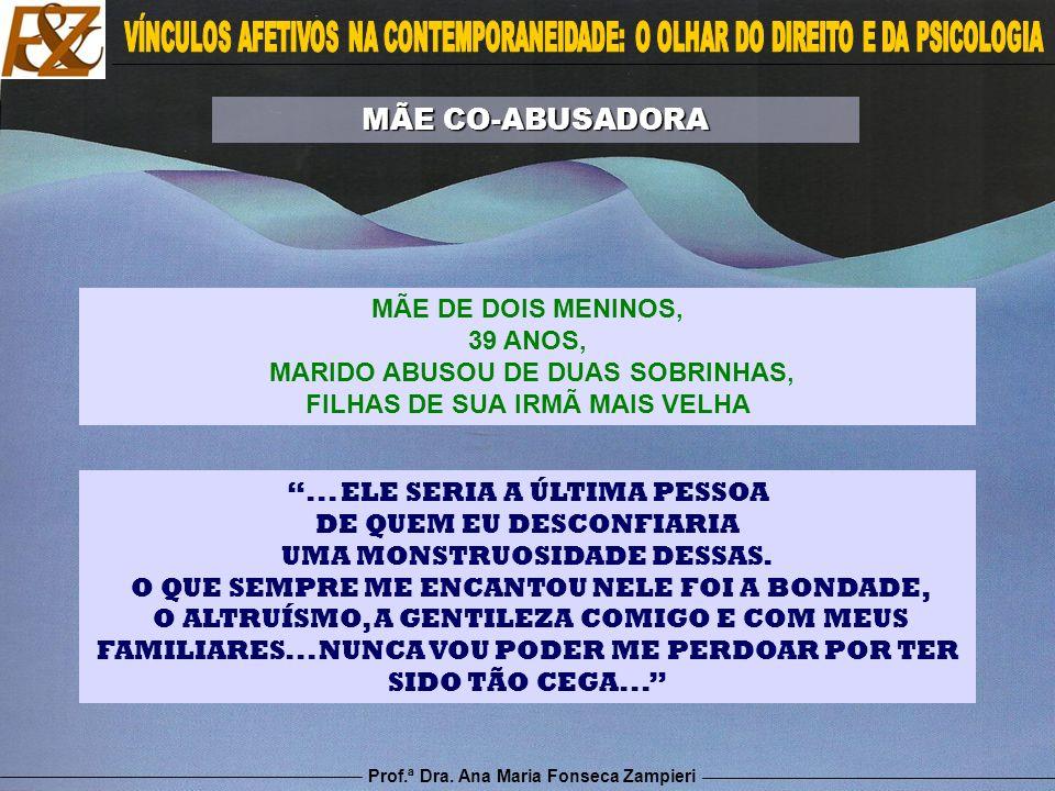 Prof.ª Dra. Ana Maria Fonseca Zampieri... ELE SERIA A ÚLTIMA PESSOA DE QUEM EU DESCONFIARIA UMA MONSTRUOSIDADE DESSAS. O QUE SEMPRE ME ENCANTOU NELE F