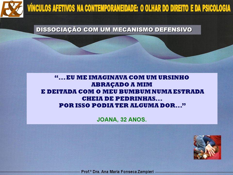 Prof.ª Dra. Ana Maria Fonseca Zampieri... EU ME IMAGINAVA COM UM URSINHO ABRAÇADO A MIM E DEITADA COM O MEU BUMBUM NUMA ESTRADA CHEIA DE PEDRINHAS...